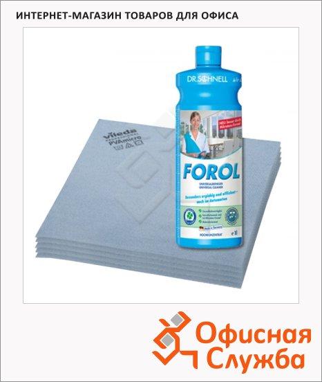 фото: Салфетка хозяйственная Professional 2 шт/уп, + моющее средство Forol 200мл