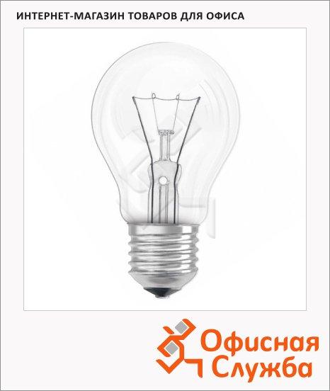 Лампа накаливания Osram, E27, стандартная прозрачная, 10шт/уп