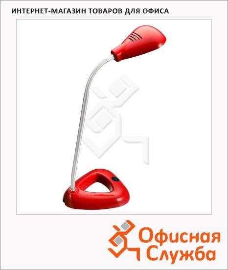 Светильник настольный Бюрократ DEL-010, на подставке, светодиодный