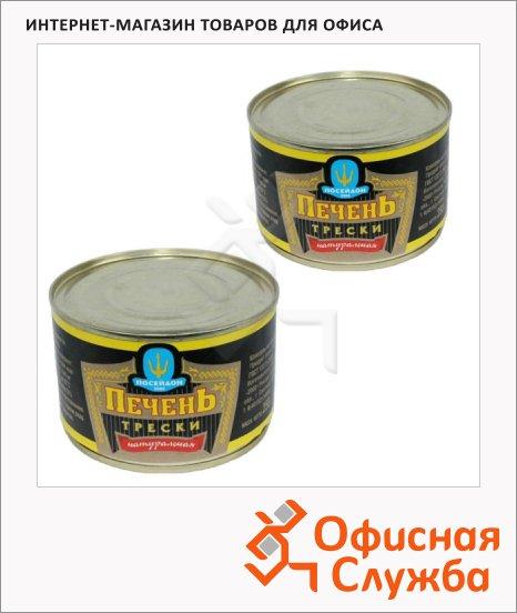 Печень трески Посейдон 2000 натуральная, 2шт х 250г