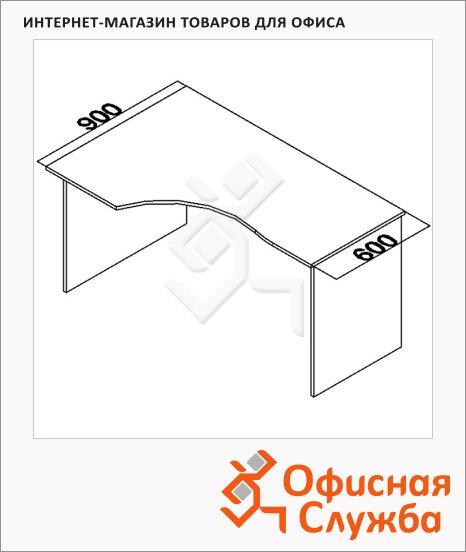Стол эргономичный Мебель Simple SE-1400(L) левый, 1400х900х760мм