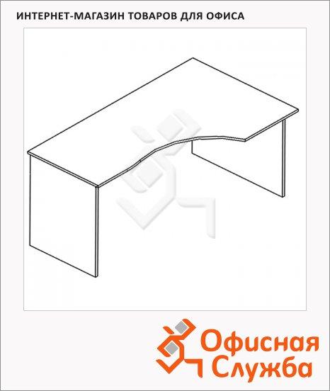 Стол письменный Skyland Simple SE-1600, эргономичный, правый, 1600х900х760мм