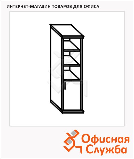 Шкаф-колонка Skyland Simple SR-5U.5, правый, 386х375х1815мм