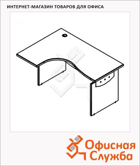 Стол письменный Skyland Offix NEW OCET 149, эргономичный, левый, 1400x860x750мм