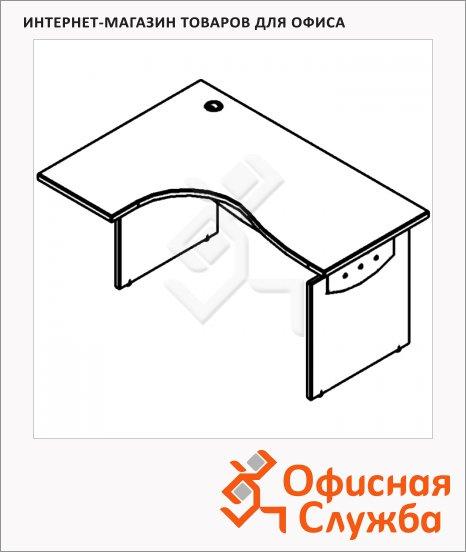 Стол письменный Skyland Offix NEW OCET 169, эргономичный, левый, 1600x860x750мм