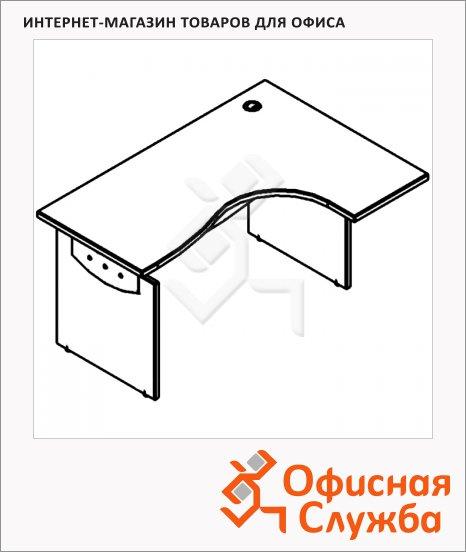 Стол письменный Skyland Offix NEW OCET 169, эргономичный, правый, 1600x860x750мм