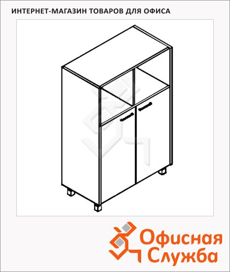 Шкаф Skyland Offix NEW OMC 87.3, 874х450х1329мм, с глухими малыми дверьми
