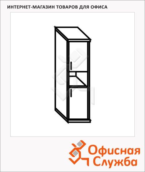 Шкаф-колонка Skyland Simple SR-5U.4, правый, 386х375х1815мм, две глухие малые двери