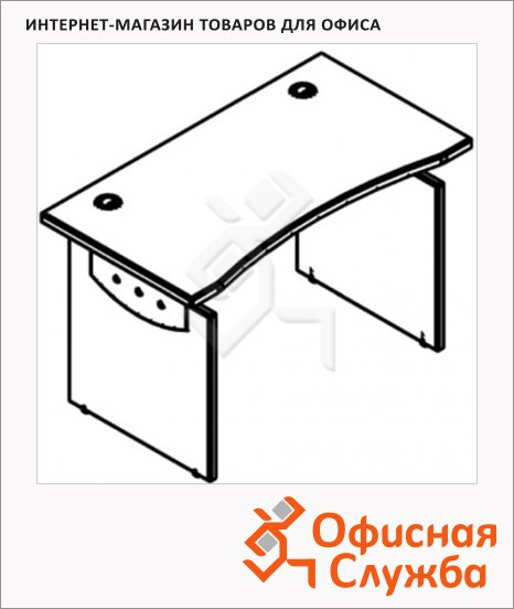 Стол письменный Skyland Offix 1/X22, 1800х800х760мм