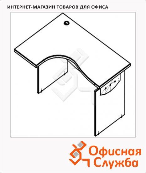 Стол письменный Skyland Offix 1/X03, эргономичный, левый, 1600x1300x760мм