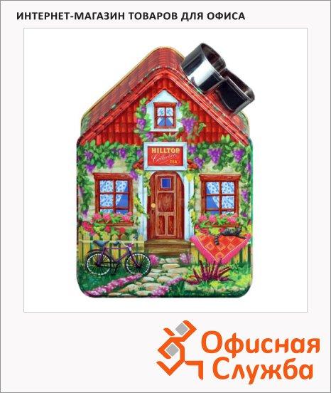 Чай Hilltop Весенний домик Черный лист, черный, листовой, 100г, ж/б