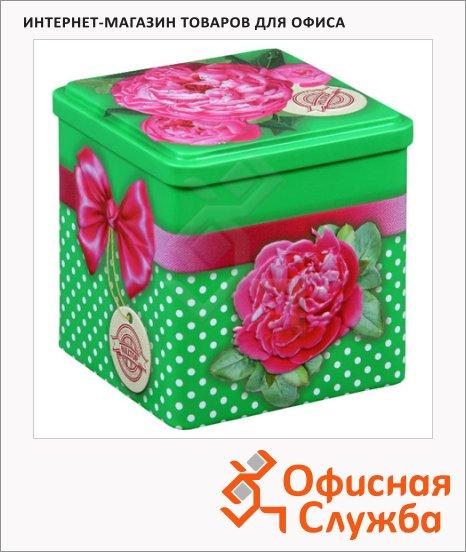 фото: Чай Бархатные пионы Праздничный чай черный, листовой, 100г, ж/б