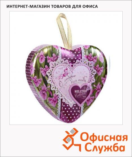 Чай Hilltop сердце Цветущие ирисы Волшебная луна, черный, листовой, 50г, ж/б