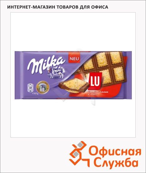 фото: Шоколад Milka Lu сэндвич молочный, 87г