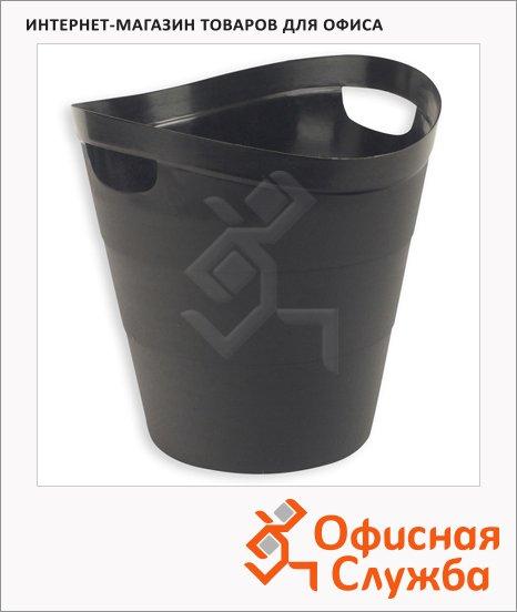 Корзина для бумаг Uniplast 12л, с прорезными ручками, КХУ-10