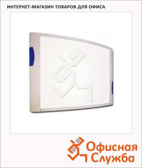 фото: Доска магнитная маркерная Convex 6342084 90х120см лаковая, белая, алюминиевая рама