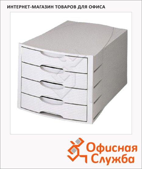 Бокс для бумаг Han Monitor 294х368х235мм, 4 ящика, серый, 1001/11