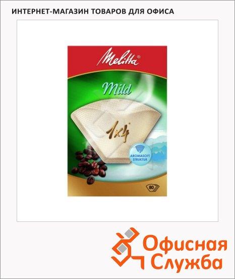 фото: Фильтры для кофеварок Melitta Мild белый 80шт/уп, 1х4см, мягкий