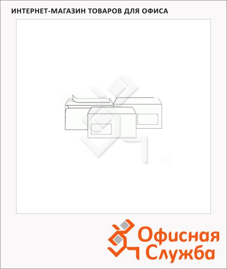 Конверт почтовый Businesspost Е65 белый, 110х220мм, 90г/м2, стрип, нижнее прав. окно