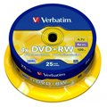 Диск DVD+RW Verbatim 4.7Gb, 4х, Cake Box