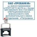 Оснастка для прямоугольной печати Trodat Professional 56х33мм, черная, 5206