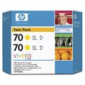 HP CB345A (yellow) картридж №70 2-pack