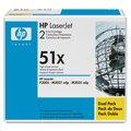 Расход.матер. д/лаз.принт.факсов HP 51XD Q7551XD чер. пов. емк. для LJ P3005/M3035 (2шт.)
