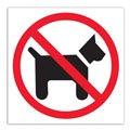 "Знак запрещающий ""Вход с животными запрещен"" APLI квадрат 114*114мм, самоклейка, 00846"