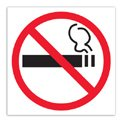 """Знак запрещающий """"Запрещается курить"""" APLI квадрат 114*114мм, самоклейка, 00845"""