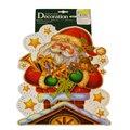 Наклейка на окно Decor Trading Company Limited Дед Мороз, 40х28см, 352701
