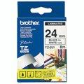 Картридж для принтера этикеток Brother TZ-251, 24мм х 8м, белый с черными буквами, пластик
