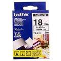 Картридж для принтера этикеток Brother TZ-241, 18мм х 8м, белый с черными буквами, пластик