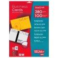 Бумага для визитных карточек DECADRY на листе ф А4, 10шт, 85х54мм, 10л, 280г/м (OCC3727)