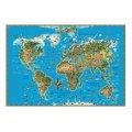 Карта настенная Dmb Мир 116х79см, для детей, ламинированная
