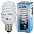 Лампа люминесц. энергосбер. ЭРА суперкомп. Т2, 20Вт, цоколь E27, 10000ч,яркий(бел)свет, F-SP-20-842