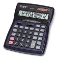 Калькулятор STAFF настольный металлический STF-7312, 12 разрядов, двойное питание, 185х140мм