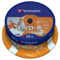 Носители информации DVD-R VERBATIM 4,7GB 16x Shrink/10 43729