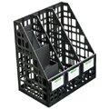 Накопитель вертикальный для бумаг Стамм А4, 3 секции, 240мм, черный, ЛТ88