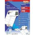 Визитные карточки Decadry серый мрамор, 85х54мм, 165г/м2, 12л х10шт