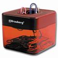 Скрепочница магнитная Brauberg красная, 221280