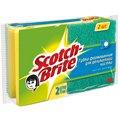 Губка для мытья посуды Scotch-Brite формованная поролоновая с абразивным слоем, 9х7см, желтая, 2шт/уп