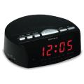 Часы-радиобудильник SUPRA SA-26FM, ЖК-дисплей, AM/FM диапазон, черный/красн.