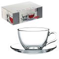 Набор чайный Pasabahce Basic на 6 персон, (6 кружек 215мл + 6 блюдец)