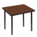 "Стол для кафе ""Стиль"" (ш720*г720*в735 мм), черн. каркас, пластик темное дерево мат., СТ5, 2 пакета"