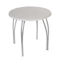 "Стол для кафе ""Страйк"", диаметр 800 мм, серебр.каркас, Topalit 97 св.мрамор мат., СТ5-01, 2 пакета"