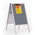 Рамка-штендер для рекламы и объявлений BRAUBERG напольная, А1 594*841мм, двухсторон.,складная,232207