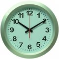 WallC-R010P/silver Часы настенные, круглые d 38см, пластик, цв. серебристый, плавный ход, батарейка