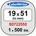Картридж к Label принтеру DYMO LW эт 51х19 500шт/рул многоф бум S0722550