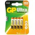 Элементы питания батарейка GP Ultra AAA/LR03/24A алкалин., бл/4