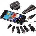 Зарядное устройство универсальное для мобильных телефонов/MP3 плееров, сетевое+автомобильное, USB+7